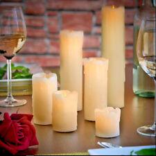 Verde permanente no goteo cena paquete de 6 velas De Forma Cónica