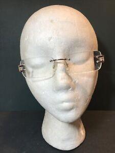 Versace Womens Rimless Eyeglass Frames MOD 1170-1053 Rose Gold 53-15/135 Medusa