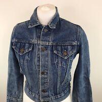 Womens Vintage Roebucks Denim Jacket Blue Trucker Sz 12