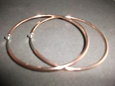 CLIP ON COPPER ROSE GOLD EARRINGS 6CM LARGE HOOPS EARRINGS HOOPED NON-PIERCED