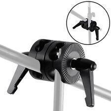 Double Dual Grip Swivel Head Bracket for Studio Boom Arm Reflector Holder Stand