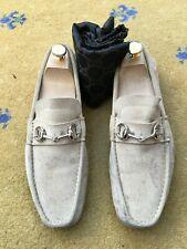 42910ae53 Gucci Mens Shoes Beige Suede Horsebit Loafers Drivers UK 7 US 8 EU 41