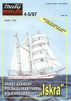 "PAPER-CARD MODEL KIT-MALY MODELARZ -Sailing ""Iskra"""