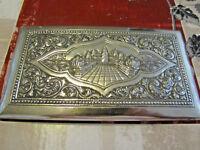 étui à cigarettes en ARGENT MASSIF 900 THAN superbe décor temple d'ANKOR TTBE