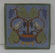 Contemporary Tile with Grape Vine and Birds