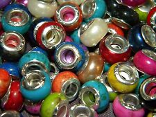 NEW Special VALUE 30/pcs 11mm MIXED Acrylic charm, spacer European Beads LOT