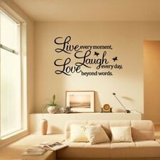 """Wall Sticker """"Live Every Moment Laugh Every Day Love..."""" Home Decals Mural Decor"""