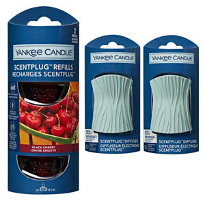 2 x SIG WAVE plugs & REFILLS YANKEE CANDLE Plug In Air Freshener STARTER SET