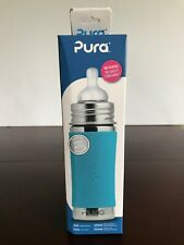 Pura Stainless Steel 11 Oz Infant Bottle With Silicone Medium Flow Nipple 3m +