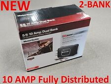 NEW MotorGuide 2 Bank On-Board Boat Battery Charger 10 A Fully Distributed 31710