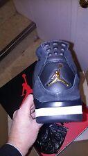 Nike Air Jordan IV Retro 4 Royalty 2017 Black, Gold, White Size 10 308497 032