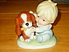 New ListingHomco Vintage Baby Boy in his Jammies with a Puppy Dog #1424 home interior