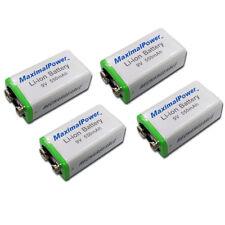 BATTERY x 4  for 9 Volt Li-Ion Rechargeable 550mAh FOUR BATTERIES