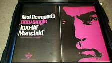Neil Diamond Two-Bit Manchild Rare Original Promo Poster Ad Framed!