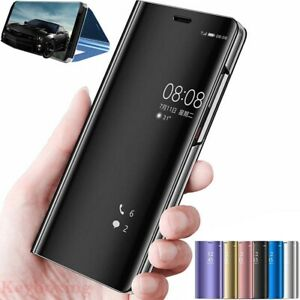 Smart Mirror Leather Flip Case Cover For Samsung S20 S10 M31S Note 10 A51 A21S