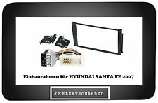 Einbauset für  HYUNDAI SANTA FE 2007 -->    Radioblende 2DIN + ISO Adapter