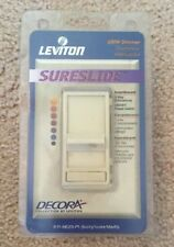 (A) Leviton 6623-PI 600W 3 Way SureSlide Dimmer IVORY (QTY 3)