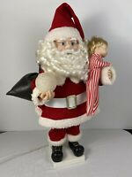 Vintage 1992 Christmas Santa Claus Telco Motionette Motion Animated Boxed RARE