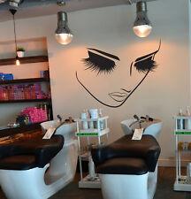 Vinyl Art Wall Decals Sticker Decor Beauty Lashes Makeup Hairdresser Spa Salon