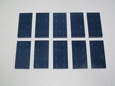 Lego ® Lot x10 Plaques Double Bleu Foncé 2x4 Plate Dark Blue ref 3020 NEW