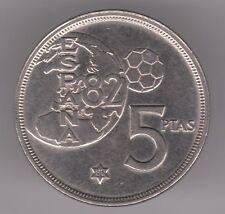 España 5 pesetas 1980 (80) moneda de cobre-níquel-España Copa del Mundo FIFA 82