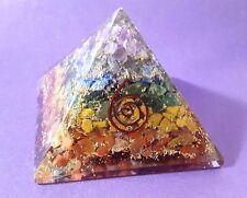 Reiki addebitate grandi 7 chakra Orgone Crystal PIRAMIDE potente generatore di energia