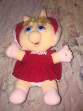 "The Muppets Henson Associates ""Miss Piggy"" 11 Inch Christmas Plush Dated 1987"