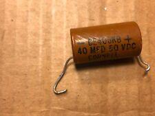 Vintage 1961 Cornell-Dubilier 40 uf 50v Paper Capacitor Guitar Tube Amp Cap