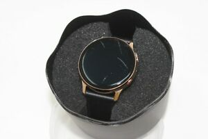 Samsung Galaxy Watch Active 2 SM-R835U 40mm Gold-Tone Stainless Steel Case Black