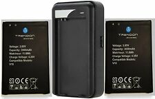 TrendON Two (2) 3000mAh batteries and travel charger for LG V10