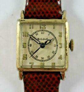 Vintage Bulova 10KGF Case Doctors Dial Manual Wind Ladies Wrist Watch Runs lot.e