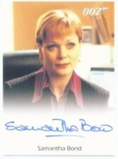 "SAMANTHA BOND ""AUTOGRAPH CARD"" JAMES BOND ARCHIVES"