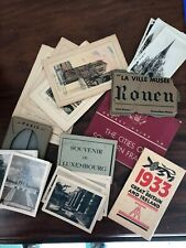 Lot Vintage Souvenir Photos Paris Luxembourg Postcards Paris Pocket Guide France