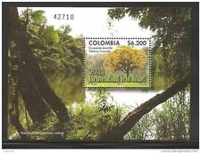 rO) 2011 COLOMBIA, INTERNATIONAL YEAR OF FORESTS- TREE-YELLOW GUAYACAN, SOUVENIR