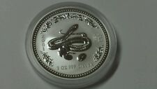 2001 1 oz Silver Lunar Year of the Snake (Series I)