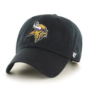 Minnesota Vikings '47 Brand NFL Clean Up Adjustable Strapback Hat Dad Cap Black