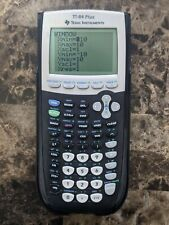 Texas Instruments TI-84 Plus Graphing Calculator - Black With Cover