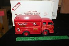 DANBURY MINT 1/24 1950s WHITE CAMPBELL'S SOUP DELIVERY TRUCK, CAB OVER ENGINE