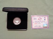 1996 CHICAGO BULLS HIGHLAND MINT ROUND FIRST 70 WIN SEASON 999 FINE SILVER COIN