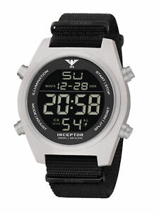 KHS Tactical Watches Inceptor Steel Digital Einsatzuhr KHS.INCSD.NB Natoband