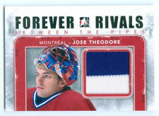 "JOSE THEODORE ""GOLD BETWEEN THE PIPES GAME USED JERSEY"" FOREVER RIVALS CANADIENS"