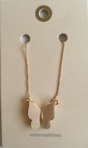 Urban Outfitters Butterfly Pendant And Chain