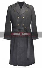 Captain Jack Harkness Grey Woolen Fabric Trench Pea Coat High Quality