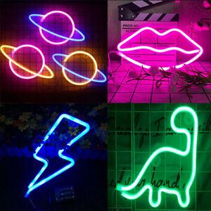 Space Neon Sign Light LED Wall Light Visual Art Bar Lamp Dorm Kids Room Decor