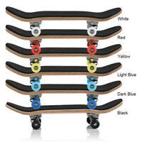 Mini Wooden Fingerboard Finger Skate Board Box Foam Tape Kids Children Toy Gifts