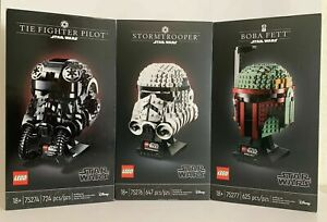 LEGO Star Wars Helmet Building Collection. Complete Set of 3 75274, 75276, 75277