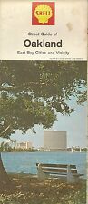 1968 SHELL Road Map OAKLAND BERKELEY ALAMEDA RICHMOND East Bay Cities California