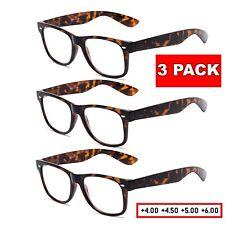 3 Pack High Power Extra Strength Reading Glasses Reader Women 4.0 4.5 5.0 6.0