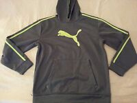 Boys Puma Hoodie Sweater L Large Gray Athletic