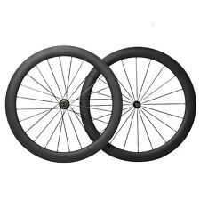 56mm Carbon Clincher Wheel Road Bicycle 700C UD Matt 11s Black 27mm Rims Novatec